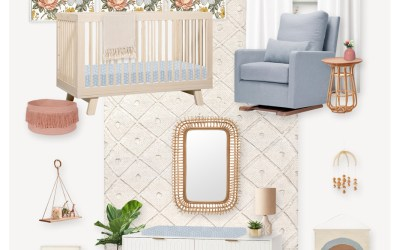 E-Design Reveal:  A Neutral Nursery with Scandinavian Touches