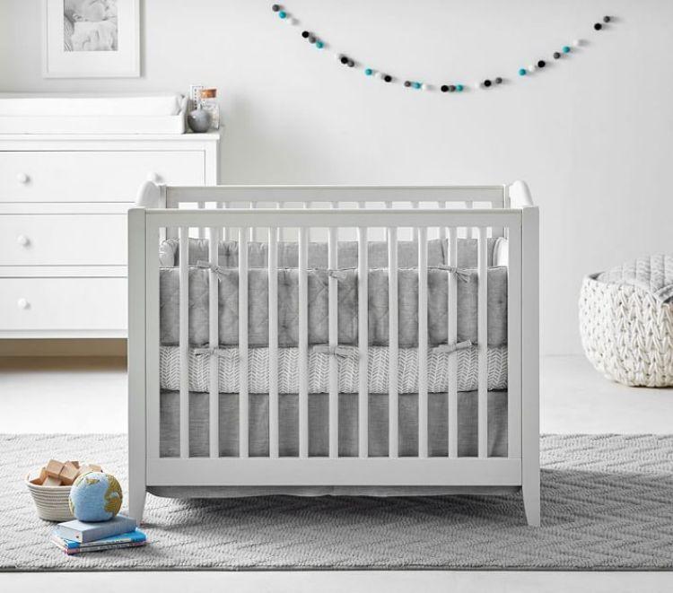 Small Space Nursery Mini Crib