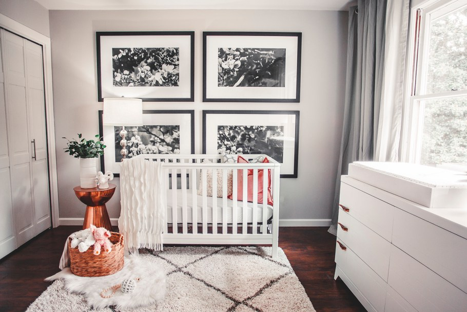 Black and white nursery design by Megan Burges Gillam