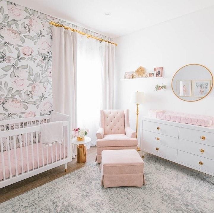 Nursery Trends of 2019: Blush Floral Nursery
