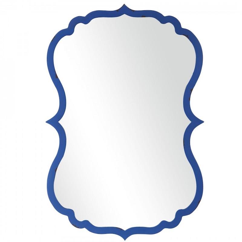 Blue Wall Mirror