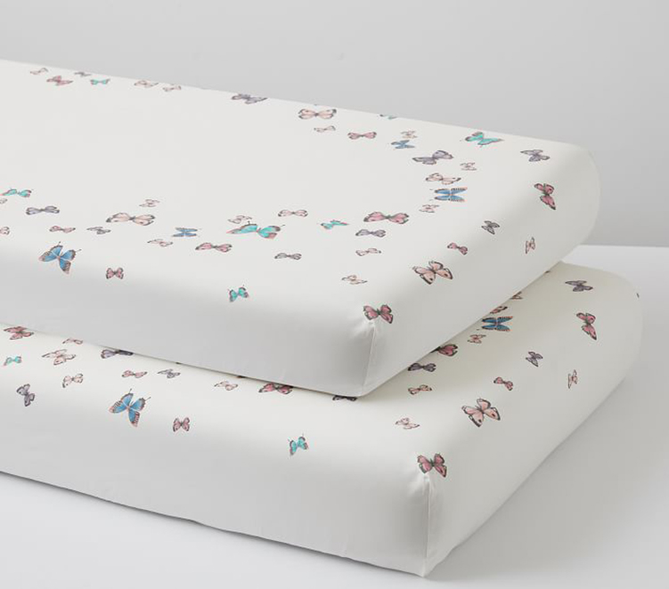 Butterfly Themed Nursery Crib Sheets
