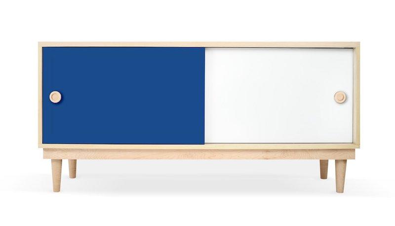 Custom Blue Playroom Storage Unit