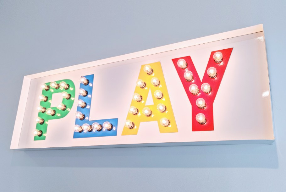 Colorful Modern Playroom Marquee Light