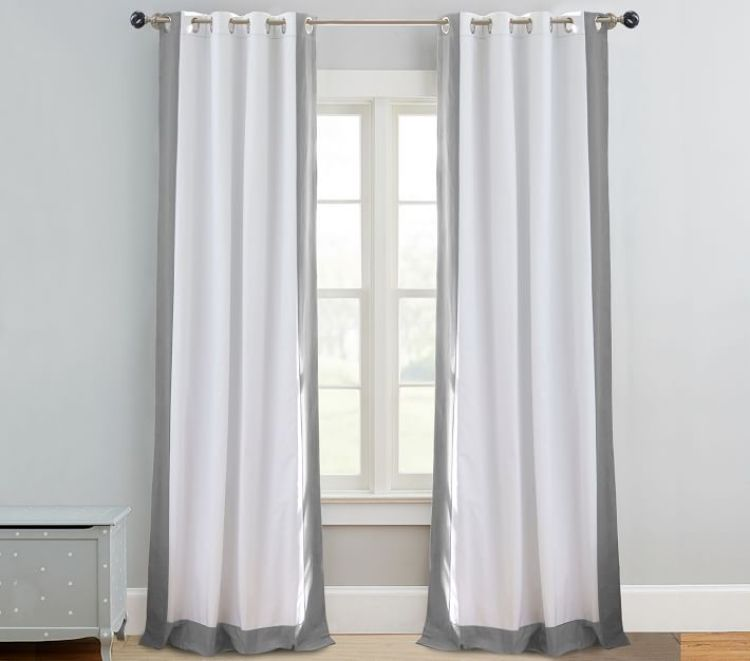 Bordered Blackout Curtains