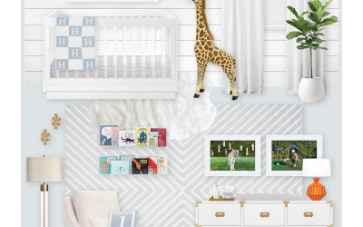 A White and Blue Nursery E-Design Reveal