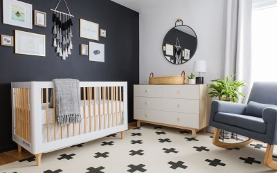 A Black and White Scandinavian Nursery Reveal