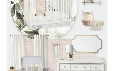 E-Design Reveal: A Nursery with a Floral Wall Mural