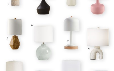 My Favorite Small Nursery Lamps Under 20 Inches