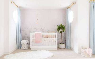 A White and Pink Girl's Nursery Design Reveal