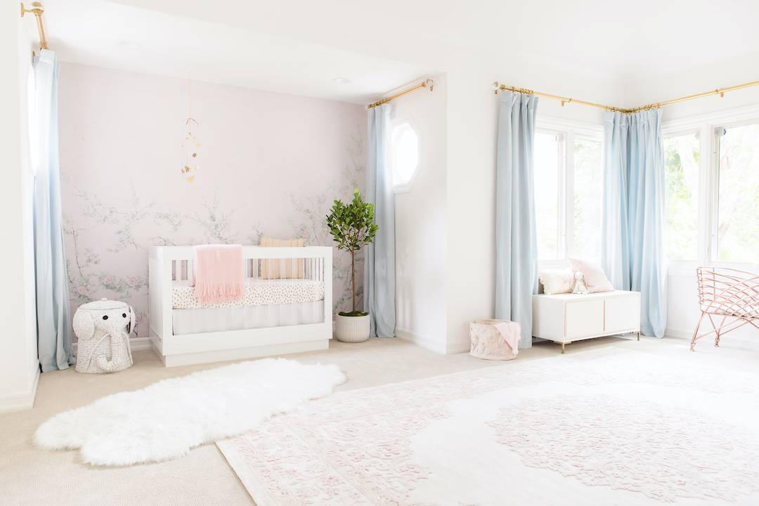 Floral Girl's Nursery by Little Crown Interiors