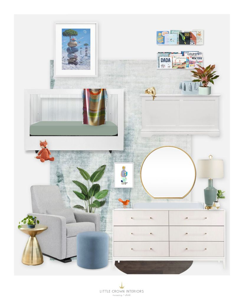 E-Design Whimsical Nursery Inspired by Artwork