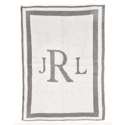 Cashmere Monogram Baby Blanket