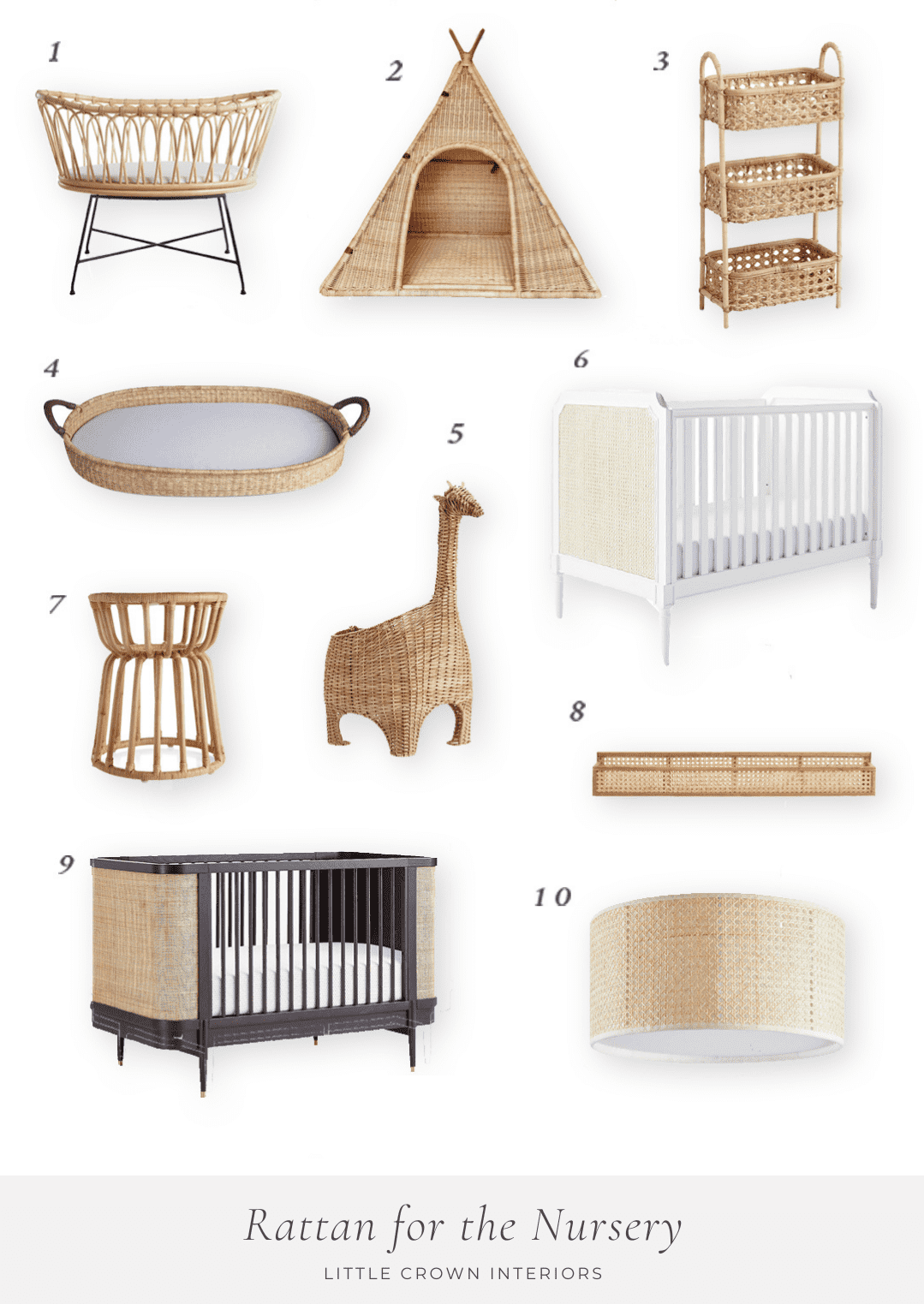 My favorite Ratten, Wicker, and Caning for the Nursery