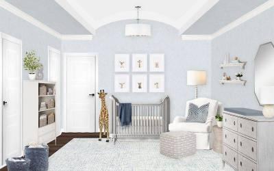 E-Design Reveal: Neutral and Light Blue Nursery