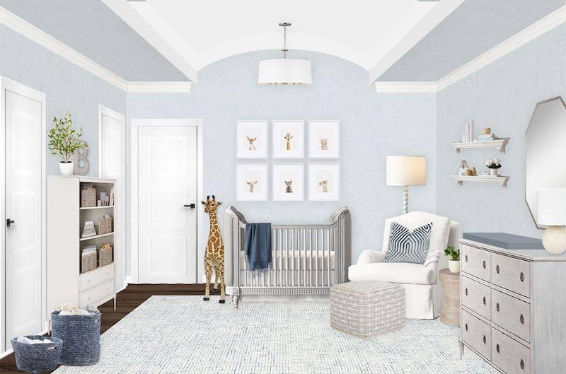 Neutral and Light Blue Nursery E-Design