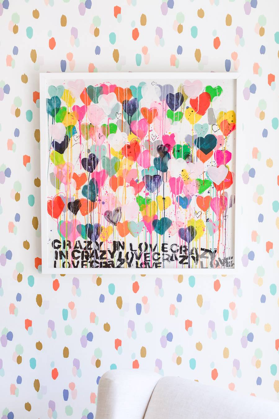Colorful Heart Nursery Art by Kerri Rosenthal