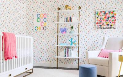 New Nursery Reveal With Some Seriously Colorful Wallpaper