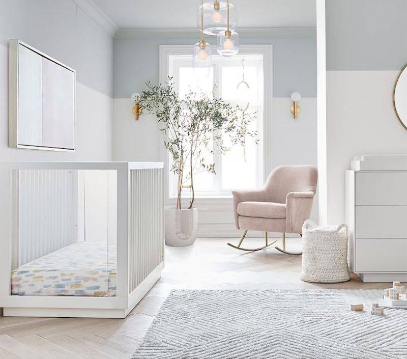 Neutral and White Nursery West Elm x PBK