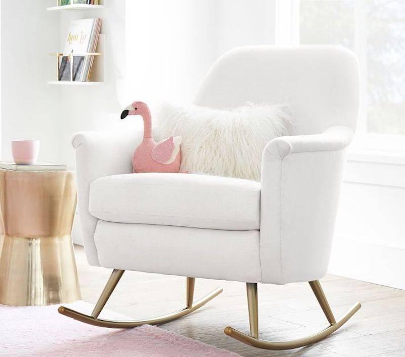 White Neutral Rocking Chair