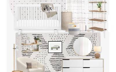 E-Design Reveal: Neutral, Black & White Nursery