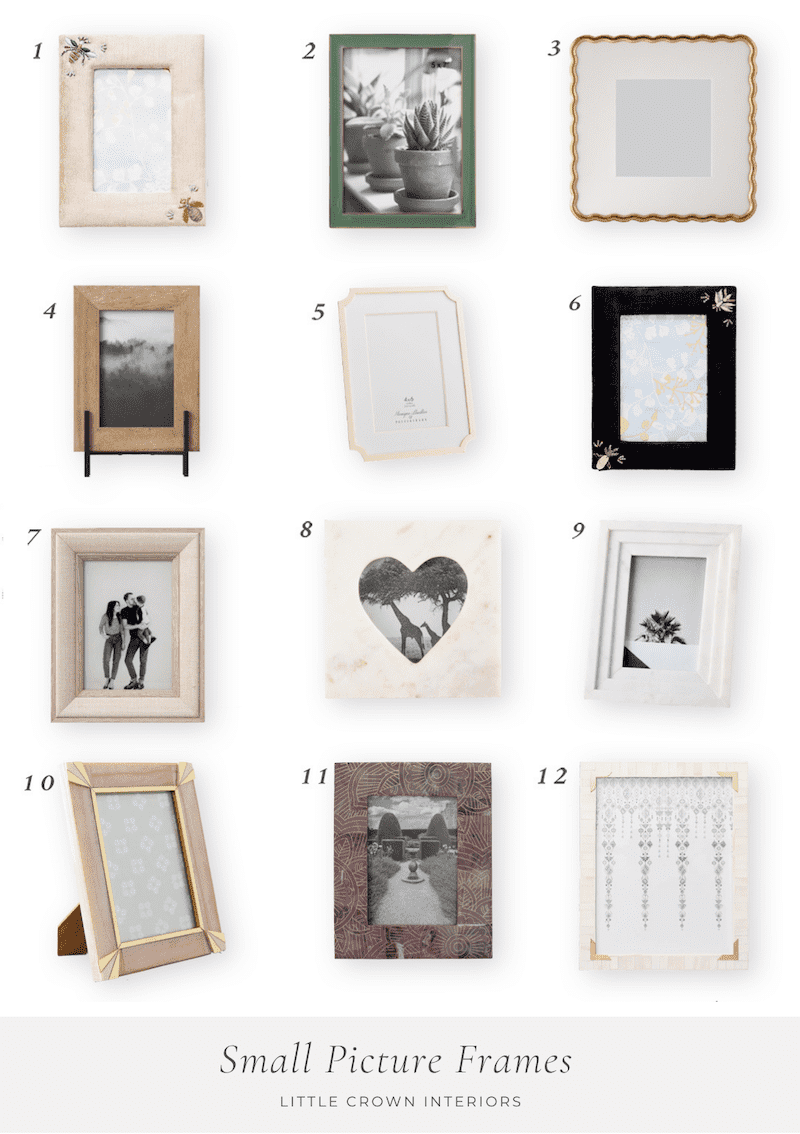 Small Picture Frames for the Nursery
