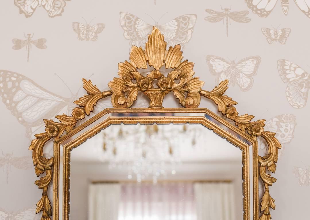 Antique Gold mirror in Butterfly Nursery