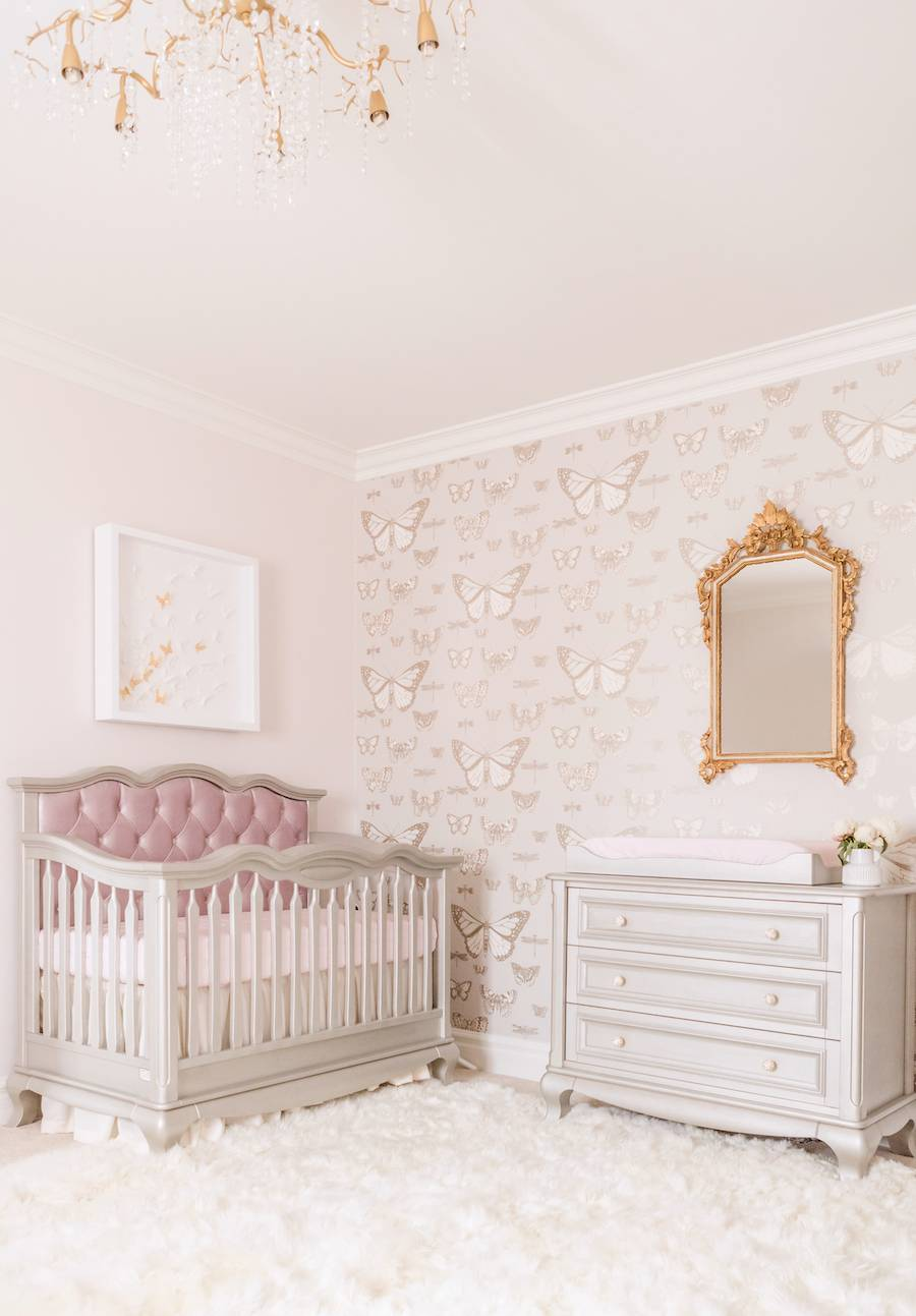 Traditional Butterly Theme Nursery Design