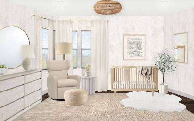 A Modern Natural Nursery Reveal with Soft Neutrals