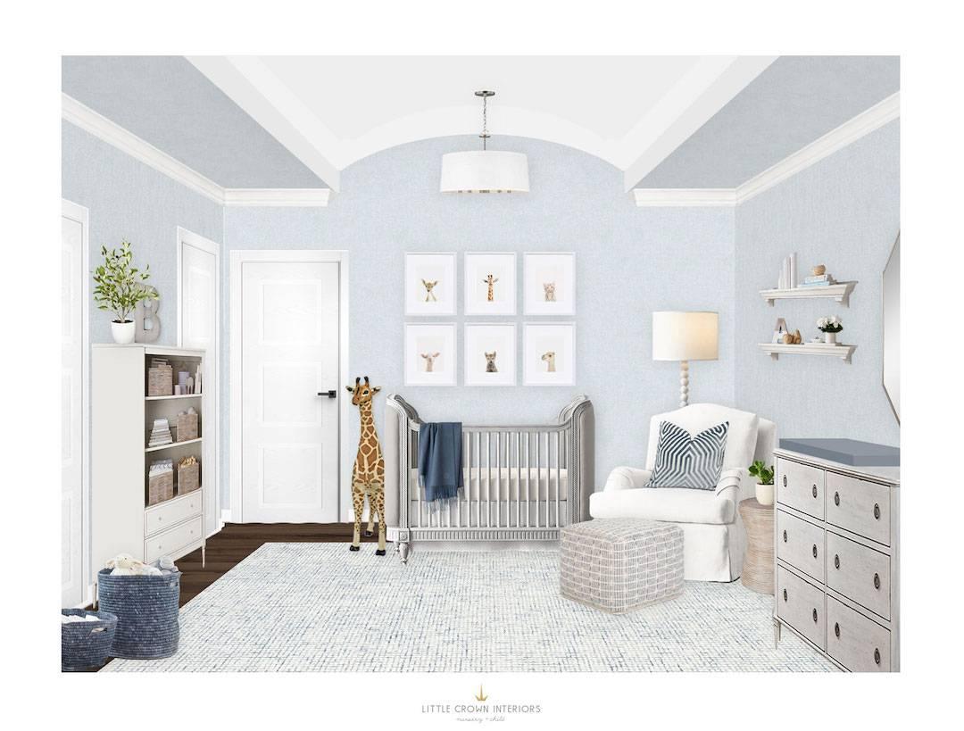 Light Blue Nursery E-Design