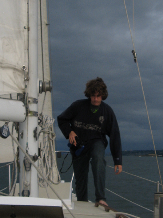 Andrew was with us when we sailed Moonrise home from her moorage in Olympia.