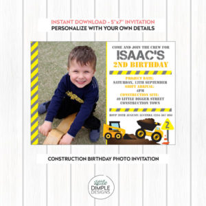 construction party invitation template