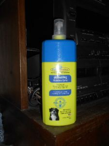Waterless, rinse free dog shampoos are the way to go for dogs who are afraid of water