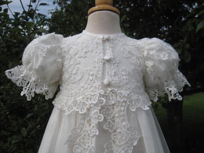 Designer Lace Christening Gown