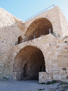 Well preserved arches at Kerak Castle