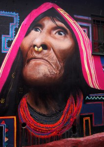 Indigenous Lady Street Art