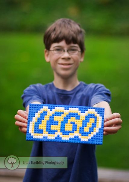 Learning with LEGO: Have your child build a LEGO mosaic.