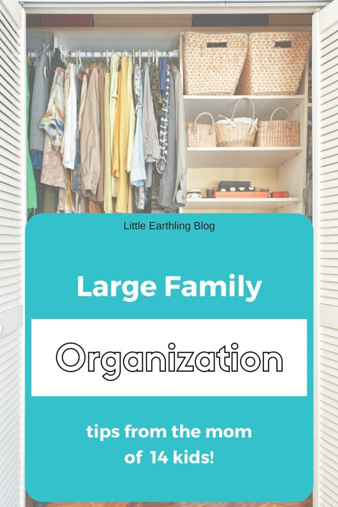 The best large family organization tips from the mom of 14 kids!