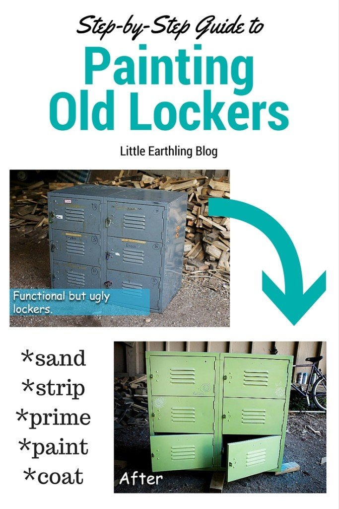 Step-by-step guide to teach you how to paint metal lockers