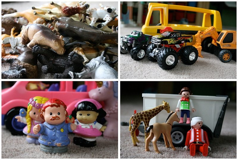 How to organize toys in a large family