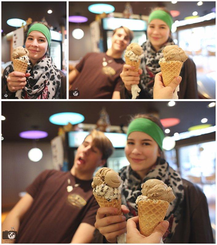 Enjoying ice cream at Mallard Ice Cream