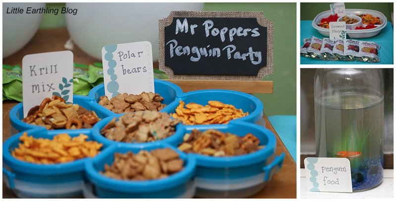 Penguin Party snacks for a fun, simple Mr. Popper's Penguins party!