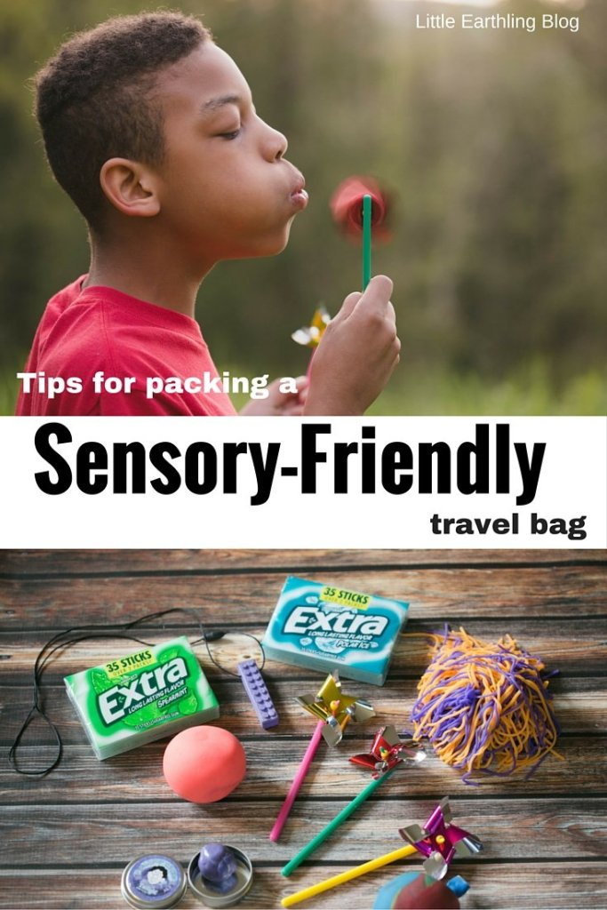 Tips for packing a sensory-friendly travel bag to keep your wigglers happy.