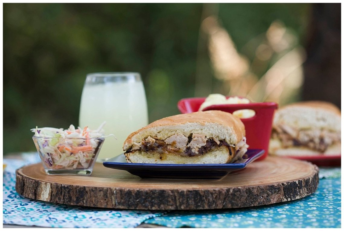 Roasted Garlic and Herb Pork Sandwiches {Real Flavor Real Fast}