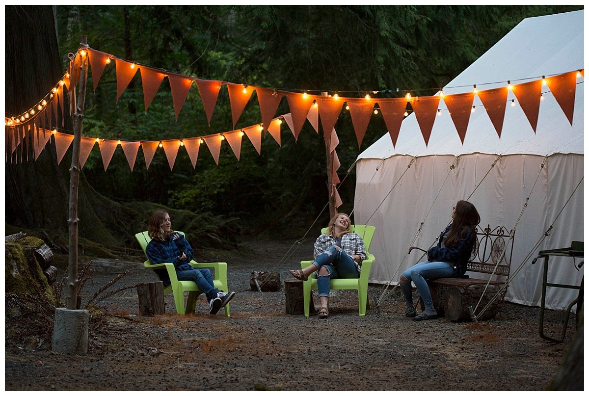 Host a fun glamping party at Glen Echo Garden in Whatcom County.