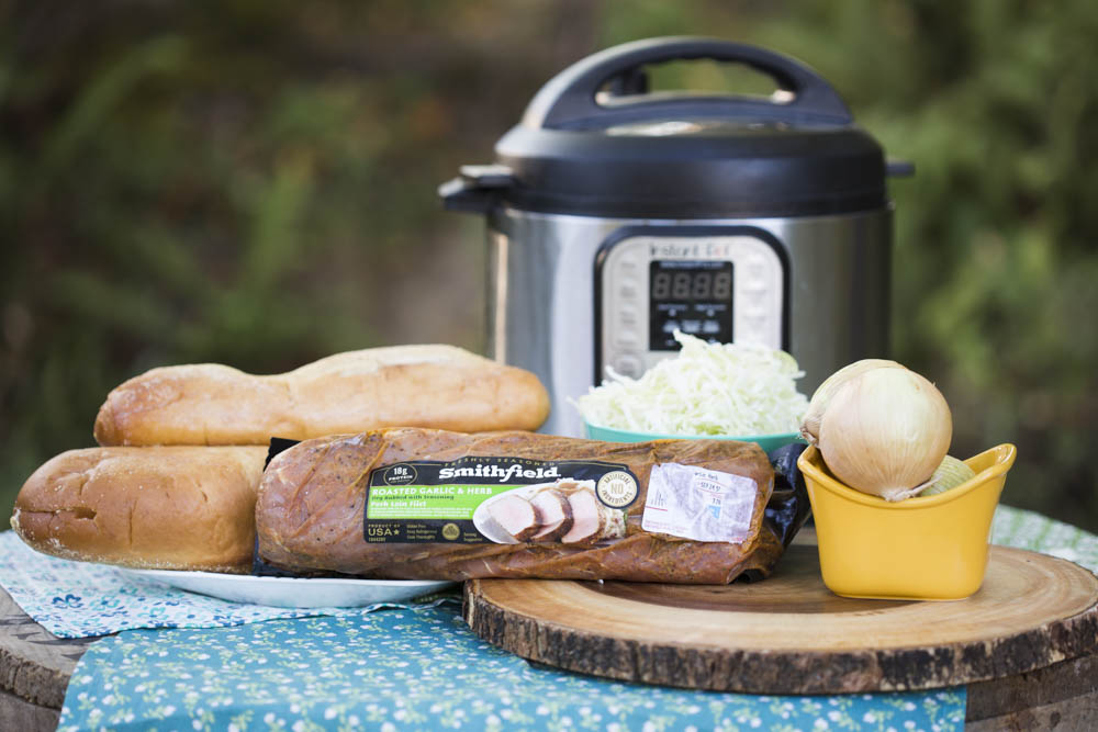 Labor Day recipes should be fast and easy. Like these roasted garlic herb pork sandwiches.