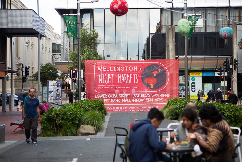 Checking out the Wellington Night Markets.