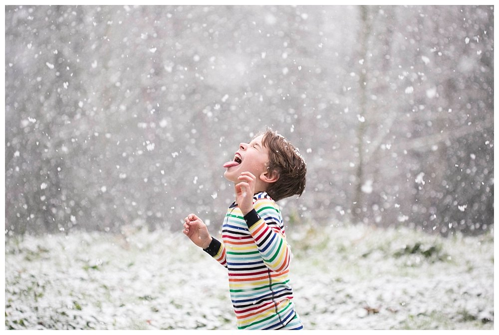 When Christmas Break Brings Snow {And Hot Chocolate}