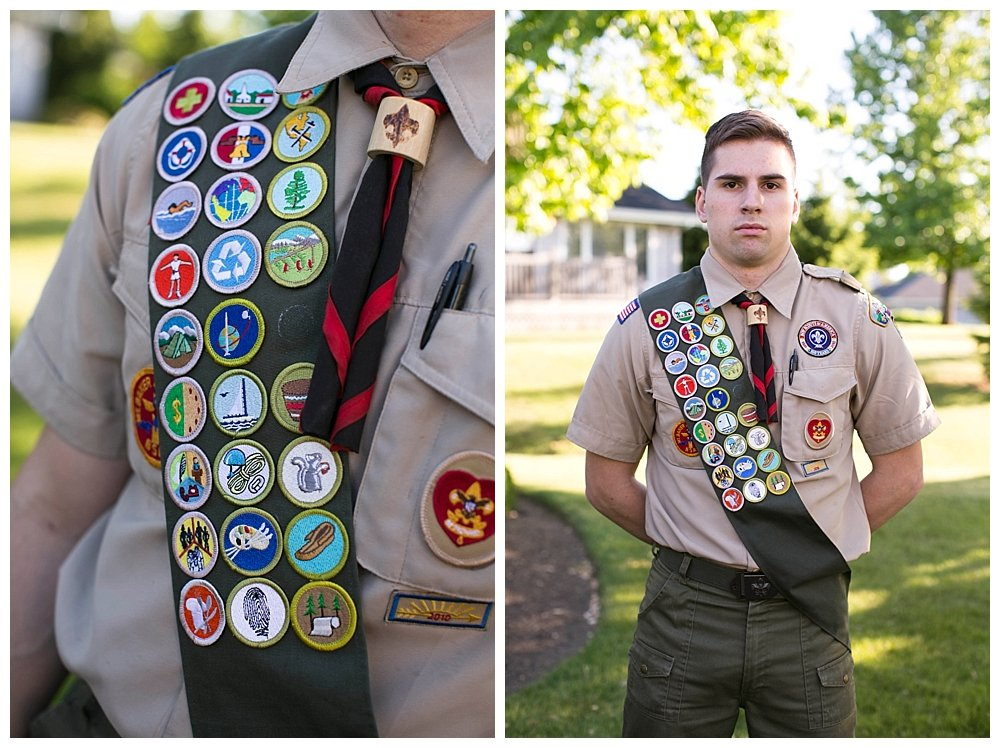 Enoch earned his Eagle Scout, the highest honor in Boy Scouts, earlier this year.