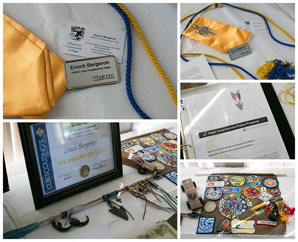 A few items from Enoch's Eagle Scout ceremony.
